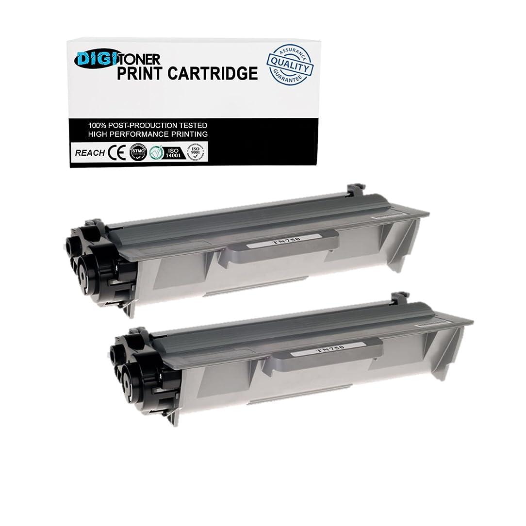DIGITONER Compatible TN750 TN720 Toner Cartridge – TN-750 TN-720 High Yield Toner Cartridge Replacement for Brother Laser Printer – Black [2 Pack]