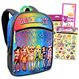 Rainbow High Backpack Set for Girls - Bundle with Rainbow High 16 Inch Backpack with Pikmi Pop Stickers and More (Kids Backpack Elementary School)