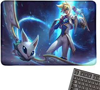Extended Gaming Mouse Pad/Mat for League of Legends, Anti-Slip Rubber Base,Stitched Edges,XXL(Star Guardian Ezreal LOL Splash Art)