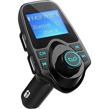 Keenso Auto T11 Drahtloser Bluetooth Mp3 Player Radio Adapter 5v 2 1a Usb Ladegerät Fm Transmitter Für Alle Smartphones Mit Aux Kabel Tf Karte 3 5 Mm Linie Auto