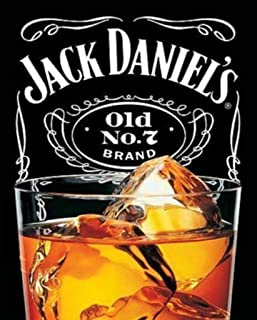 Pyramid America Jack Daniels On The Rocks Old Number 7 Brand Tennessee Whiskey Cool Wall Decor Art Print Poster 24x36
