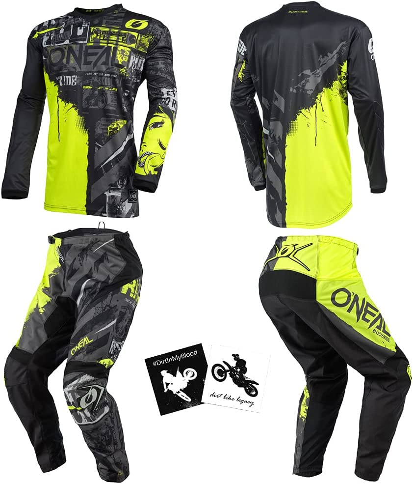 O'Neal Ride Black Store Sales for sale Neon Yellow Kids Medium Youth 10 8 24 Powe
