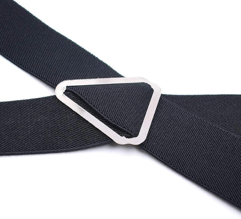 HEling Suspenders for Men with 4 Swivel Hooks Adjustable Heavy Duty Braces Garter