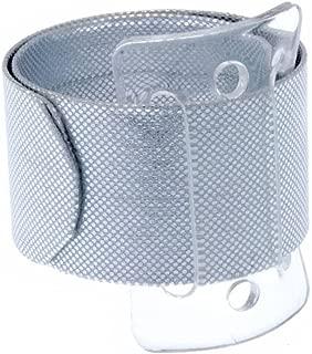 Floristrywarehouse Snap/Wrap Wristlet Corsage Bracelet Silver 1 Inch Wide x 2