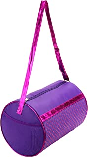 Cute Purple Dance Duffel Bag for Girls Kids Crossbody Sports Gym Shoulder Bag