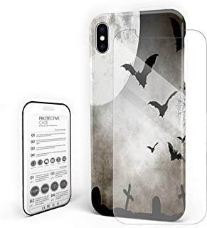 Case for iPhone 6 Plus/iPhone 6s Plus Moon Bat and Gloomy Tomb Professional Hard PC Material Shockproof Protective Case,Custom Cover for iPhone