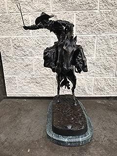 LIFETIME INTERNATIONAL INC American Handmade Bronze Sculpture Statue Bronco Buster By Frederic Remington Regular Size 24