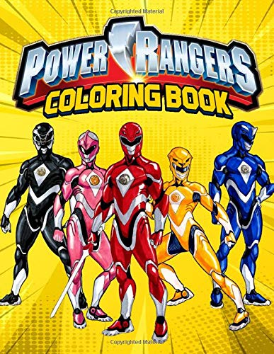 Power Rangers Coloring Book: Super coloring book with Power...