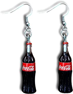 Cola Retro Bottle Dangle Drop Earring by Pashal