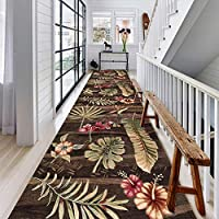 廊下敷きカーペット エクストラロング ランナーズカーペット レトロな花のデザインでは、 屋内/屋外ユーティリティおよびエリアラグ用、 廊下 出入り口 ホーム キッチン 装飾 (Size : 120x200cm)