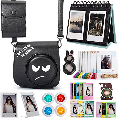 Woodmin Carton 12-in-1 Accessories Bundle for Fujifilm Instant Mini 8 8+ Mini 9 (Camera case/Photo Bag/Albums/Frames/Stickers/Filters/Selfi-Lens)