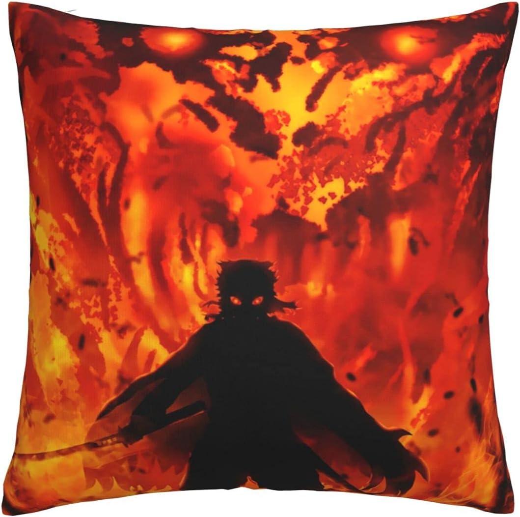 Manufacturer OFFicial shop Demon Slayer Throw Pillow Covers Cushion Decorative C Ranking TOP6 Pillowcase