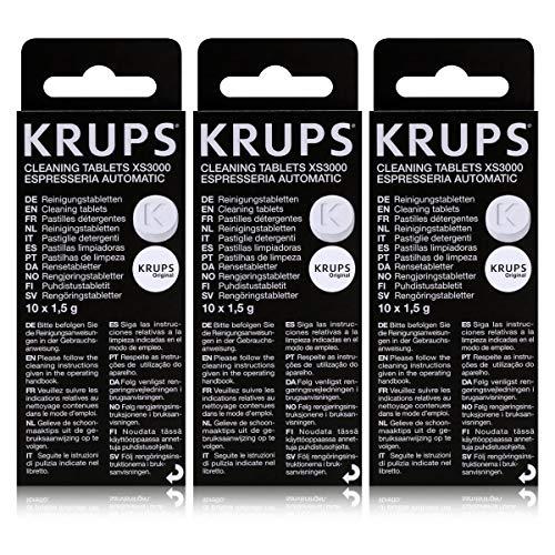 3 KRUPS Reinigungstabletten XS3000
