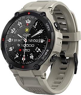 chebao, Smartklocka, fitnessmätare med pulsmätare, SENBONO MAX6 Bluetooth samtal pulsmätare sömnklocka smartklocka (grå)