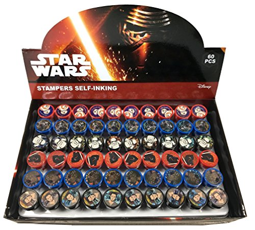 Disney Star Wars Self-inking Stamps Birthday Party Favors 60 Pieces (Complete Box)
