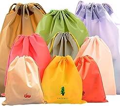 CHRISLZ Waterproof Clothing Storage Bag 3 Different Size 9 PCS Travel Storage Bag Drawstring Bags Dirty Bag Cord Bag Shoes Bag(9-Color)