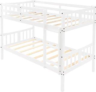 سرير سرير مزدوج خشبي مزدوج لغرفة نوم الأطفال من Elegdy سرير مزدوج مع سلم