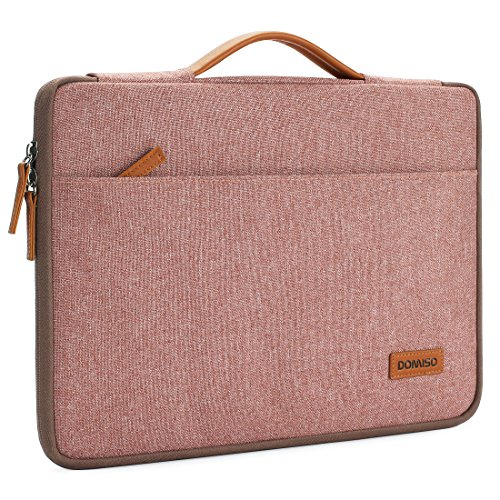 "DOMISO 12.5 Zoll Wasserdicht Laptop Tasche Sleeve Case Notebook Hülle Schutzhülle für 13"" MacBook Pro Retina/13 MacBook Air Retina 2018/12.9\"" iPad Pro 2016 2017/13.5\"" Surface Laptop 2,Rosa"