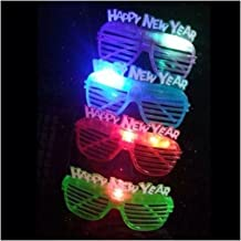 Unbranded 12 Light Up New Years Eve Party Glasses Glowing LED Shades Hot Seller Item