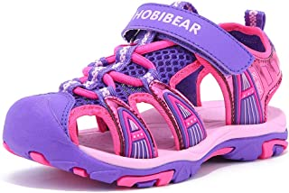HOBIBEAR Boys Girls Sport Water Sandals Closed-Toe Outdoor(Toddler/Little Kid/Big Kid)