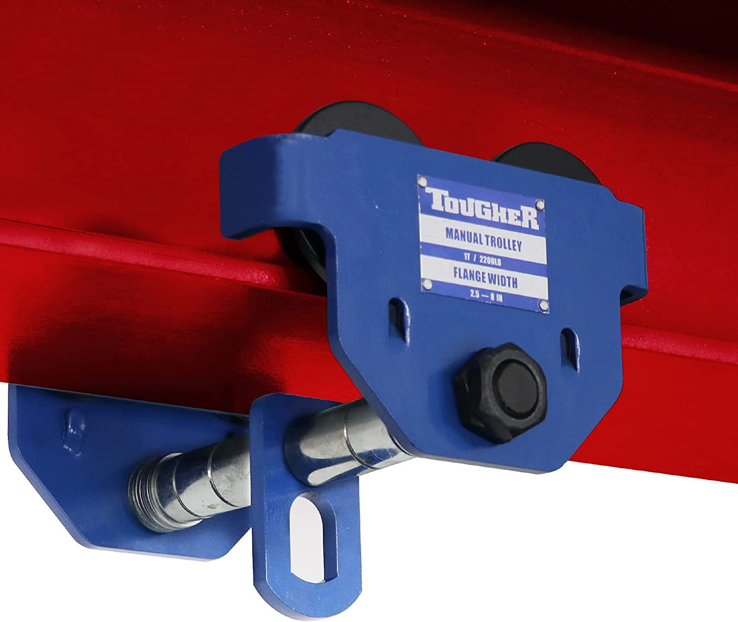 TOUGHER Dual Wheels Beam Manufacturer OFFicial Max 67% OFF shop Trolley 1 Capaci Duty Heavy Ton 2200LBS