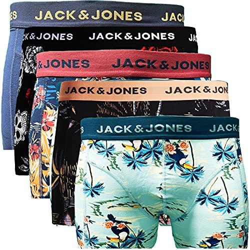 JACK & JONES Trunks 5er Pack Boxershorts Boxer Short Unterhose Mehrpack (XL, 5er Pack Bunt 14)