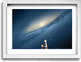 POLKJIH Calvin and Hobbes Fresh Look Canvas Printings Wall Art Ready to Hang for Home Decoration Room Decor 16x12inch