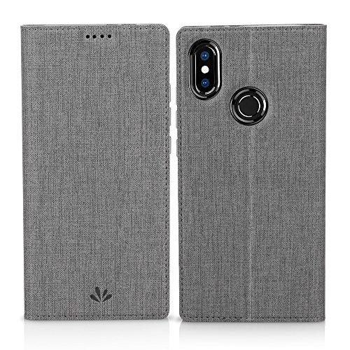 Eastcoo Xiaomi Mi A2 Hülle, Flip Folio Wallet Leder Smart Hülle Tasche Schutzhülle Handyhülle mit [Wake up][Standfunktion][Magnetic Closure] für Xiaomi Mi A2 (Mi A2, Gray)