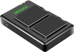 Neewer Batería LP-E10 Cargador Set para Canon EOS Rebel T3 T5 T6 T7, Kiss X50 X70 X80 X90, EOS 1100D 1200D 1300D 1500D 2000D 3000D (2-Pack Baterías de Reemplazo 1020mAh, Cargador Ranura USB Doble)