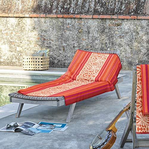 Bassetti Toallas de mano Italiana In Algeri rojas, toalla de playa 90 x 180 cm