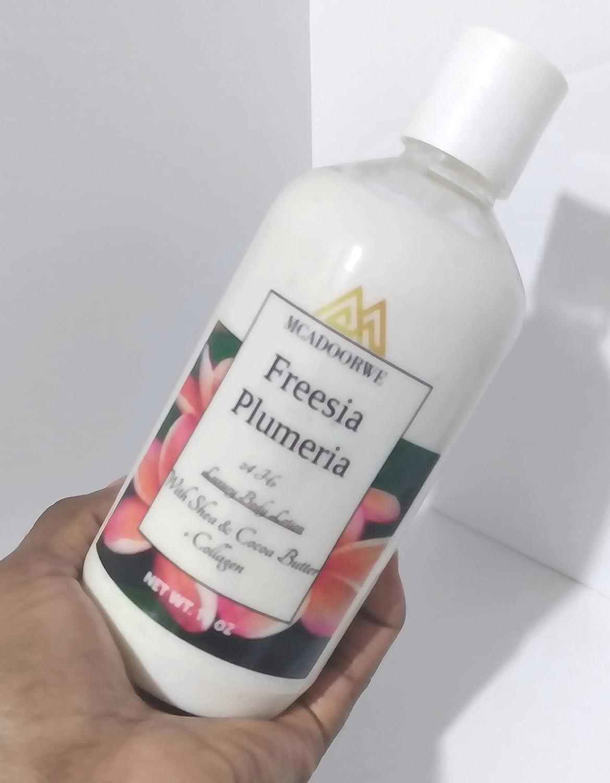 MCADOORWE 16 oz Freesia Plumeria Award-winning store and Popular brand Body Loti Moisturizing Face