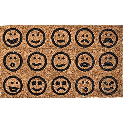 Teppich weiche Teppiche Teppiche Wohnzimmer Roter Netto-Teppich, Coir-Seidenmaterial, Feuchtigkeitsbeständige Dekoration, Geeignet für Den Innenbereich, 45 * 75cm / 17.7 * 29.5in, Emoticon-Paket Soft