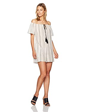 BCBGeneration Women's Off-Shoulder Tassel Romper