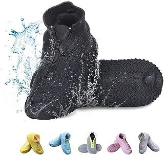 Vorgelen Cubierta del Zapato, Funda de Silicona para Zapatos con Suela Antideslizantey Cremallera, Funda de Zapato Reutili...