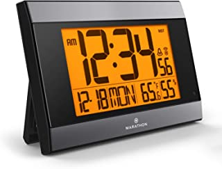 marathon cl030052gg atomic digital wall clock