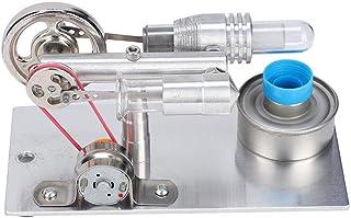 Jimfoty Motor Stirling, Ventilador Tipo T Motor Stirling Miniatura Generador de energía de Aire Caliente Modelo de enseñanza Motor de Vapor para Laboratorio de física Escolar