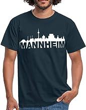 Mannheim Skyline Weiss Männer T-Shirt