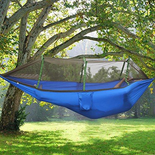 MONEYY Hamac avec des moustiquaires Swing Simple Double Chambre Anti-Moustique Quarts maillé extérieur Camping Vert armée Camouflage 260 * 40cm,260 * 40cm,f Ascenseur
