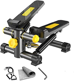 HJKHNK Fitness Mini Stepper with Resistance Bands Air Stair Climber Stepper Exercise Machine Treadmill LCD Display Shows Calories Burned Workout Time etc User Weight up to 135kg