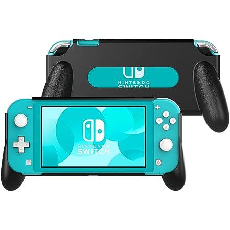 Nintendo Switch Lite ケース ATiC Switch Lite ハンドルグリップ カバー 耐衝撃 ニンテンドー スイッチライト グループ 人間工学 スタンドホルダー 滑り止め 手触り良い 着脱簡単 任天堂スイッチLite 専用 軽量 Black