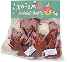 ZippyPaws - Zoo Friends Burrow, Interactive Squeaky Hide and Seek Plush Dog Toy - Monkey Miniz, 3 Pack