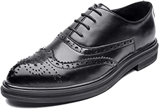 Men's Business Oxford Fooling Chic British Style Low-top Classical Carving Lace Brogue Shoes casual shoes (Color : Black, Size : 44 EU)