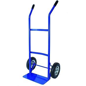 Bleu Diable en acier avec anti crevaison Pneus et 325/kg Capacit/é de charge