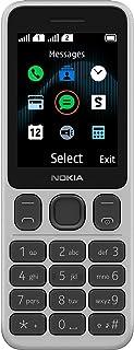 Nokia 125 2.4-inch SIM-free classic phone with Micro-USB charging and long-lasting battery (dual SIM), ergonomic keys, FM ...