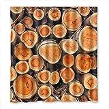DOUBEE Badezimmer Holz Realtree Wasserdichtes Duschvorhang Shower Curtain 167cm x 183cm Mit Haken