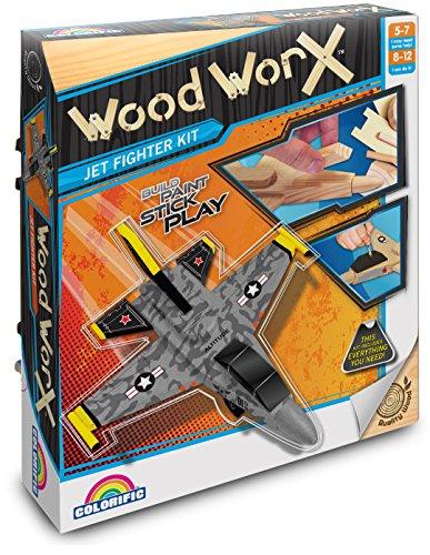 Colorific - Wood Worx - Düsenjäger Bastel-Bauset