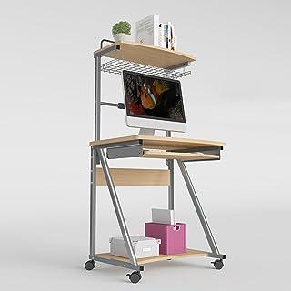 Table HUO, Bureau de Bureau d'ordinateur Multifonctionnel Simple démontable 70cm Multifonctionnel (Couleur : Deep Oak, Tai...