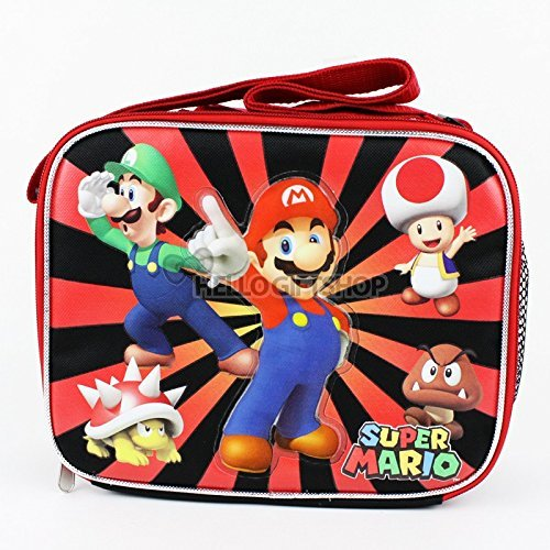 Super Mario Brothers Canvas Boys and Girls School Lunch Bag by Nintendo