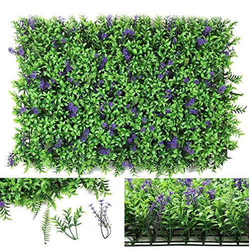 WHAPPY Künstliche Hecke Pflanze, Topiary Screen Panels, UV-beständige Faux Privacy Greenery Zaun, Eco künstliche Hecke Wandpaneele für Garten, Hinterhof Dekoration