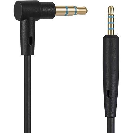 ヘッドフォンケーブル BOSE QC35/QC25, QuietComfort 35/QuietComfort 25 等対応オーディオ ステレオ ヘッドフォン 交換用ケーブル コード